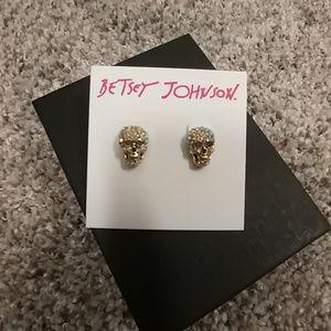 Betsey Johnson Skull Studs